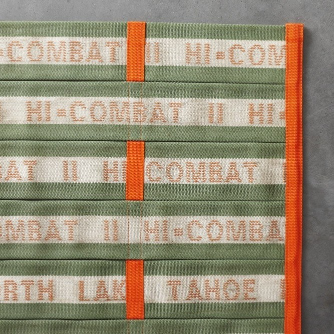 Embroidered Fire Hose Mat with orange trim