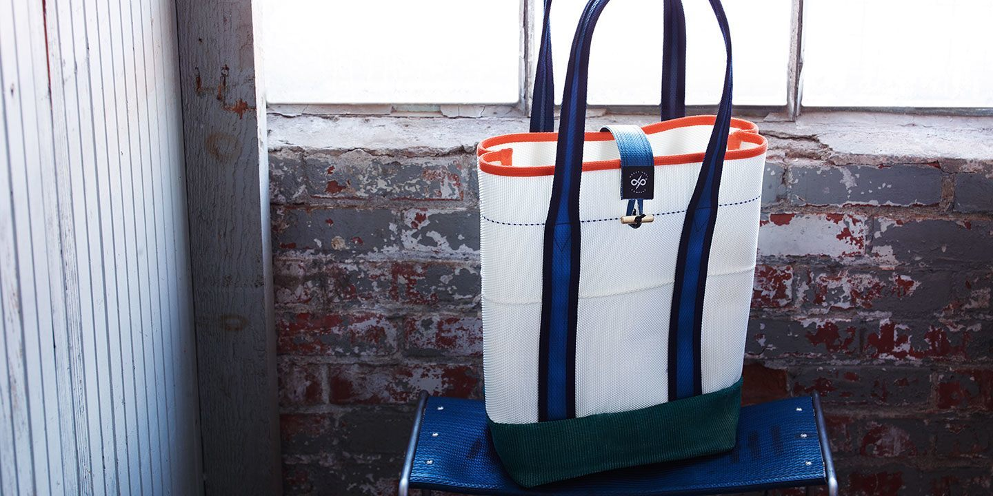 reclaimed fire hose tote