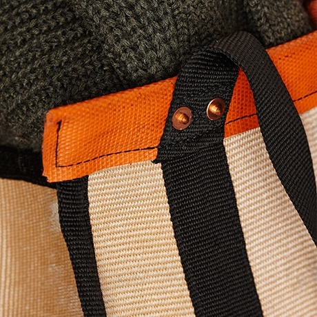 Weekender upcycled fire hose tote bag